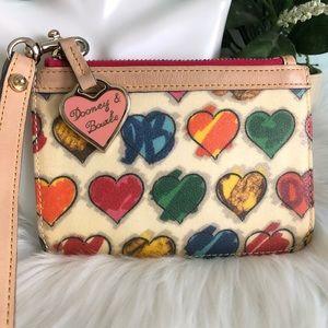 DOONEY & BOURKE Rainbow Hearts Wristlet